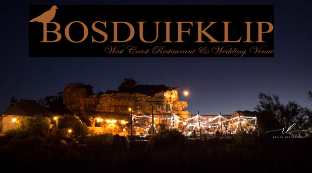 Bosduifklip, restaurant and wedding venue, West Coast, Lambertsbay, West Coast restaurants, West Coast, Bosduifklip, open air restaurant, holiday